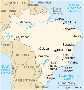 [Country map of Brazil]